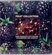 Шоколад Фруктовая коллекция темный с натуральной ежевикой и кешью 80г