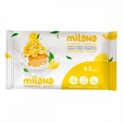 Салфетки влажные Милана лимонный десерт 72шт