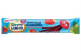 Кусочки Фруто-няня фруктовые Осьминожка яблоко/клубника 16г