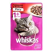 Корм для кошек Вискас рагу говядина/ягненок от 1 года 75г