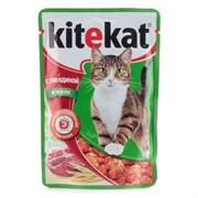 Корм для кошек Китекят с говядиной в желе 85г