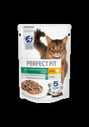 Корм для кошек Перфект Фит для стерилизованных кошек курица в соусе 75г