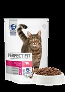 Корм для кошек Перфект Фит для взрослых кошек с говядиной 75г