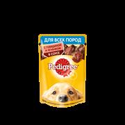Корм для собак Педигри всех пород с говядиной и ягненком в соусе 85г