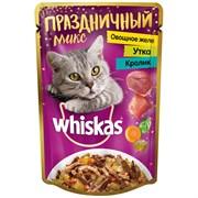 Корм для кошек Вискас праздничный микс овощное желе утка кролик 85г