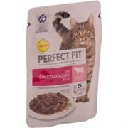 Корм для кошек Перфект Фит с говядиной для взрослых кошек 85г