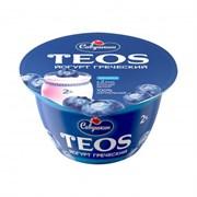 Йогурт Савушкин Греческий Теос черника 2,0% 140г