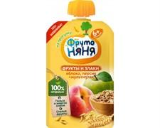 Пюре Фруто-няня яблоко/персик/злаки 130г