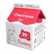 Сметана Олонецкий мк жир.20% 250г