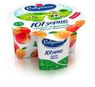 Творог 101 зерно+сливки персик-абрикос 5% 130г