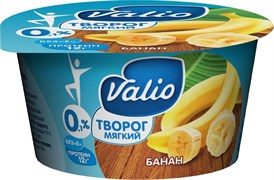 Творог Валио с бананом 0,1% 140г