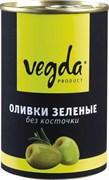 Оливки Вегда зеленые без косточки ж/бн 300мл