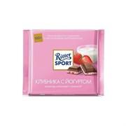 Шоколад Риттер Спорт молочный с клубникой в йогурте 100г