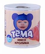 Пюре Тема кролик с 6 мес 100г ж/б