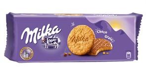 Печенье Милка с овсяными хлопьями и молочным шоколадом 168г
