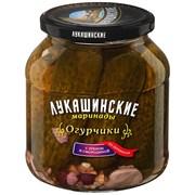 Огурчики Лукашинские по-деревенски с хреном и смородиной 670г