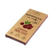 Шоколад Гагаринские мануфактуры горький на меду клюква 70% какао 85г