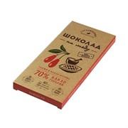 Шоколад Гагаринские мануфактуры горький на меду годжи/какао крупка 70% какао 85г