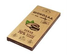 Шоколад Гагаринские мануфактуры горький на меду пекан 70% какао 85г