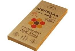 Шоколад Гагаринские мануфактуры горький на меду пчелиная перга 70% какао 85г