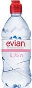 Вода Эвиан минеральная негазированная 0,75л