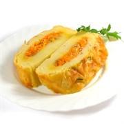 Рулет картофельный с овощами 100 г.