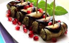 Рулетики из баклажан с грецким орехом 100 г.