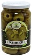 Оливки Амадо зеленые без косточек 350г ст/б