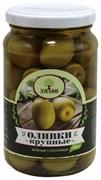 Оливки Амадо зеленые крупные с косточкой 350г ст/б