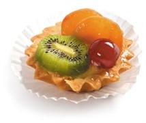 Корзиночка творожная с фруктами 150г*