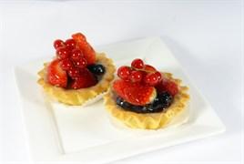 Корзиночка песочная с ягодами в желе 130г