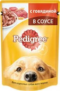 Корм для собак Педигри говядина в соусе 100г