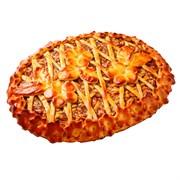 Пирог с яблоками и повидлом из дрожжевого теста 12ч/24ч 100 г.