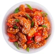 Курица с овощами в кисло-сладком соусе 100 г.