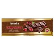 Шоколад Дарк темный с кусочками вишни и клюквы 225г