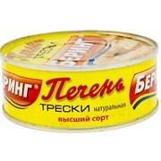 Печень Беринг трески натуральная в/с 230г