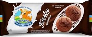 Мороженое Коровка из Кореновки полено на сливках шоколадный и ванильный 400г