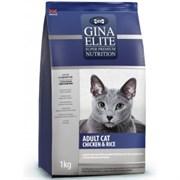 Корм для кошек Джина Элит для взрослых кошек курица с рисом1000г