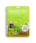 Маска Екел тканевая с экстрактом зеленого чая саше 25мл