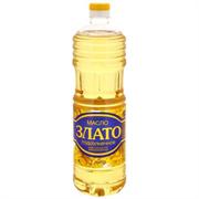 Масло Злато подсолнечное рафинированное 1л