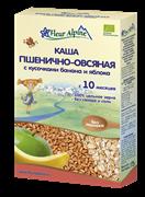 Каша Флер Альпин пшенично-овсяная с бананом и яблоком 175 гр