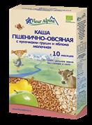 Каша Флер Альпин пшенично-овсяная с грушей и яблоком 175 гр