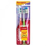 Зубная щетка Колгейт Зигзаг плюс средняя 2+1