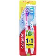 Зубная щетка Колгейт макс блеск средней жесткости + 1 бесплатно