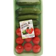 Ассорти Долина овощей (томаты+ огурцы) 700г