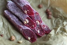 Восточные сладости колбаски натуральные из сливы 100 г.