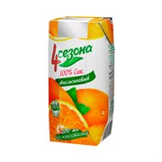 Сок 4 сезона апельсин 0,2л