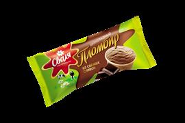 Мороженое Сваля пломбир шоколадный 15% 70 гр ваф. стаканчик