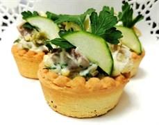 Тарталетка салат мясной 1шт