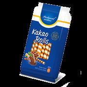 Трубочки вафельные с кремовой начинкой со вкусом какао 160г